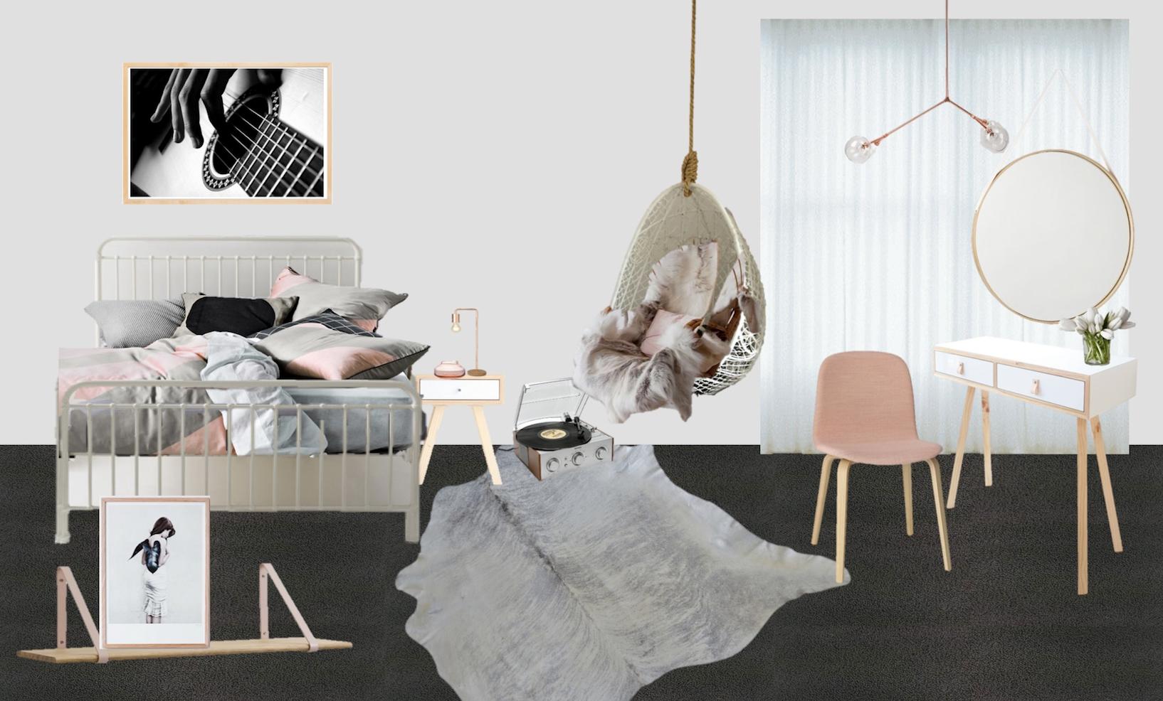 Digital design of Scandiavian teen retreat