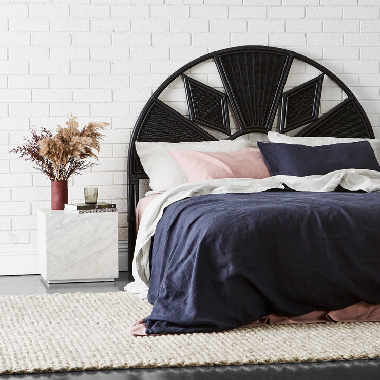 Avery Arch Diamond Bedhead available through Minted Interiors - email tess@mintedinteriors.com Image - GlobeWest
