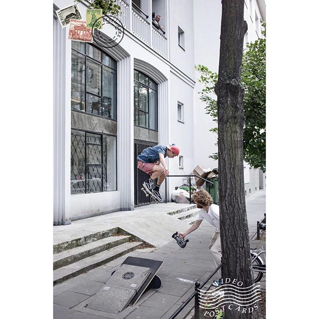 @el_kobus ollie into the bank from our new edit - Video Postcards - link on bio! / 📸 @pielibadass aka @bigspin_skateshop ✌🏻