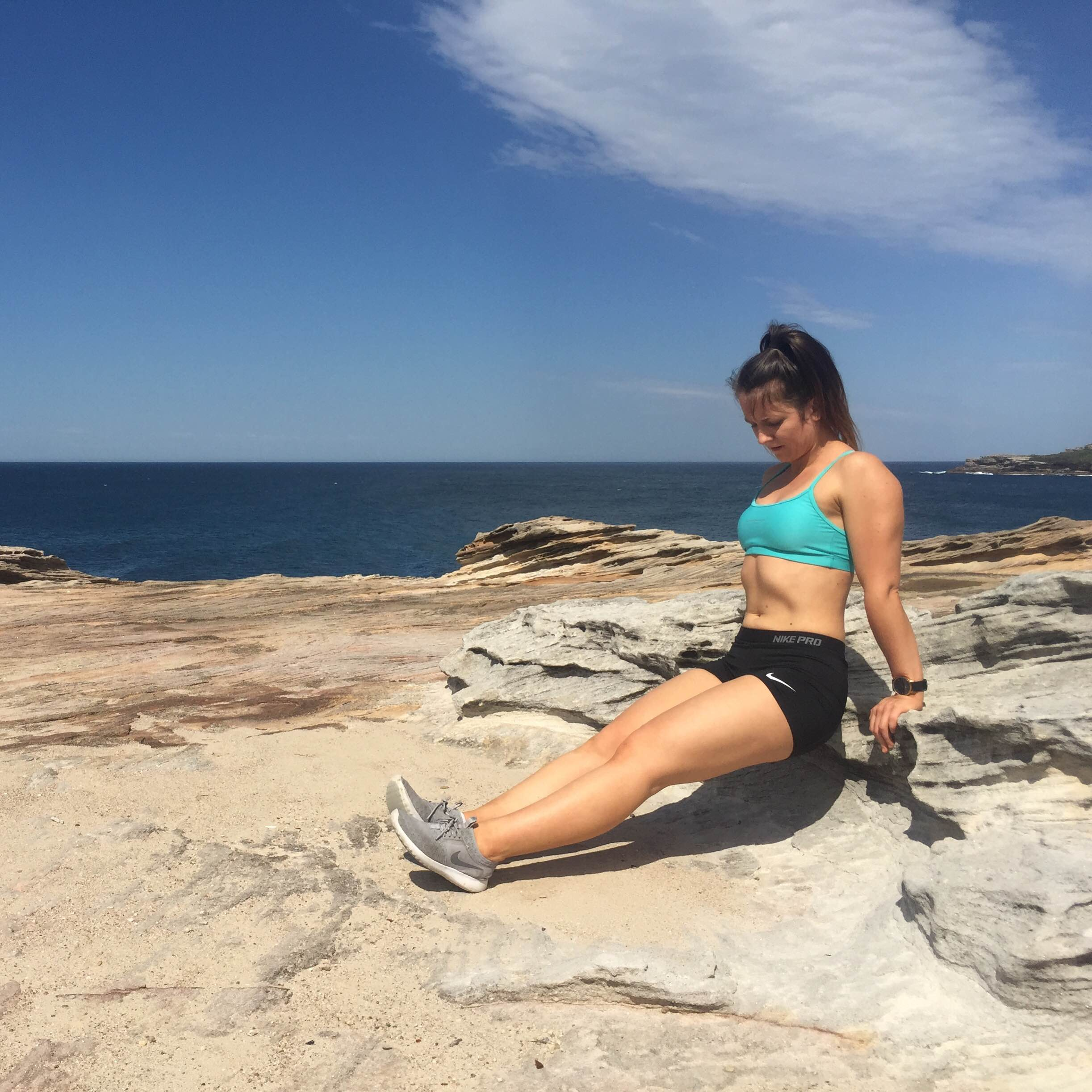 Workout, stretch and sweat for healthy skin