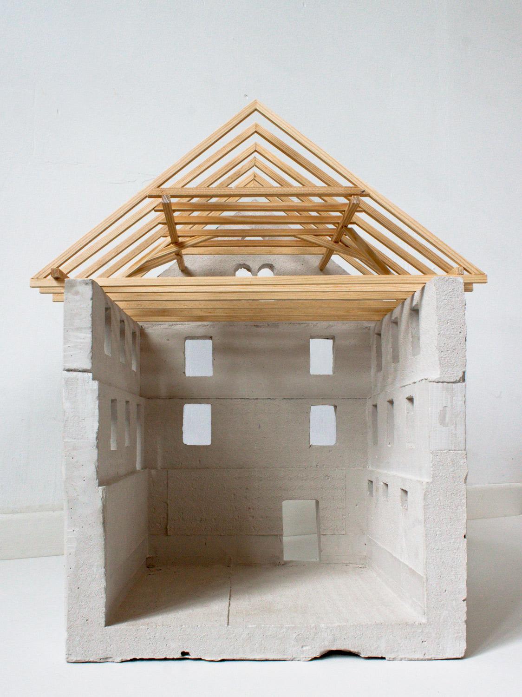Tragende Struktur des bestehenden Hauses