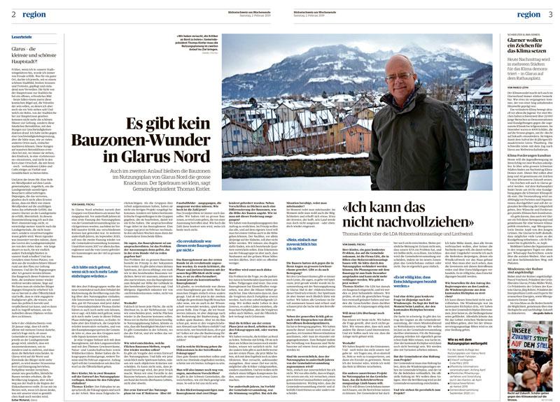 03. Feb 2019 -  Ruumfabrigg  - Als Teil der Fokusgruppe Baureglement dürfen wir über die Überarbeitung der Nutzungsplanung Glarus Nord mitberaten.