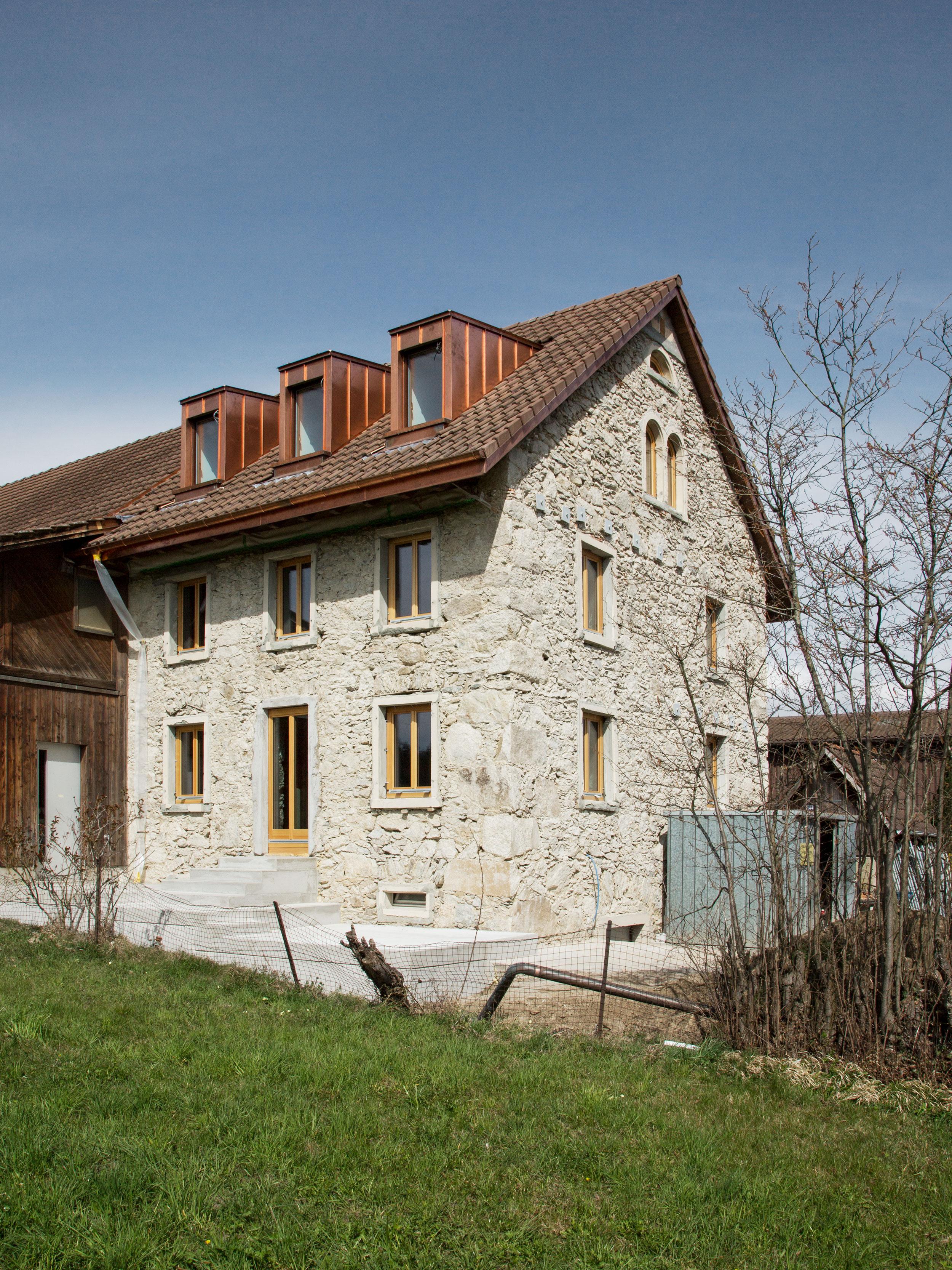 Baustellenbild der Fassade