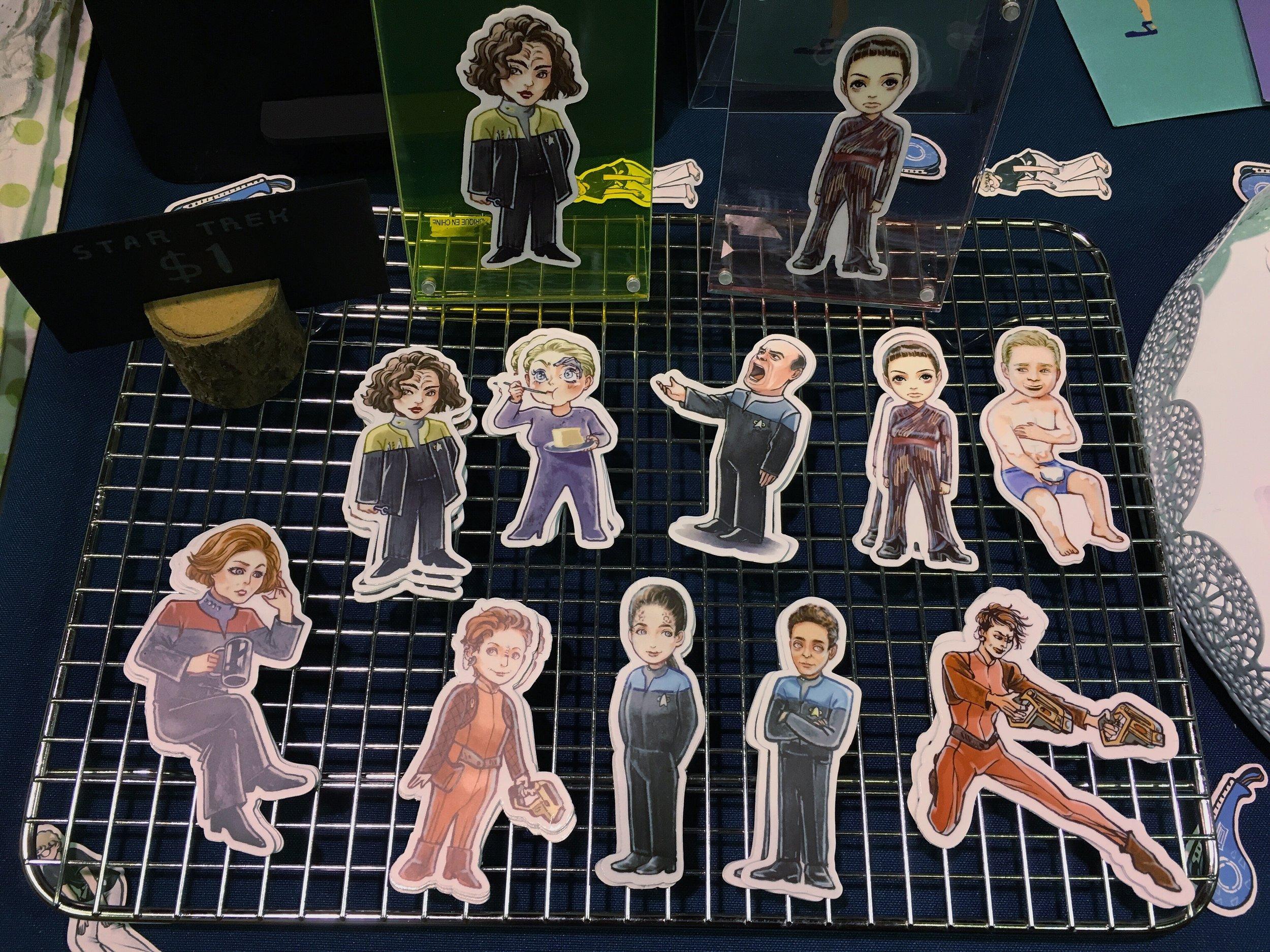 My Star Trek fan art stickers