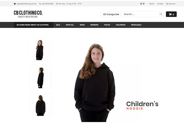 We have a new look! Visit us online at cbclothing.com.au