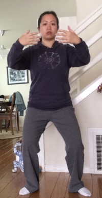 Disclaimer:Still working on proper stance and alignment.Not recommended: Meditation with photo timer ;)