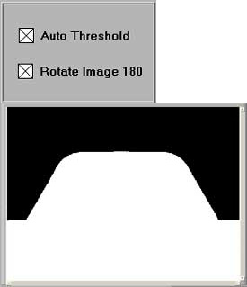 Figure 5b -  Auto Threshold and Rotate Image 180 Checked