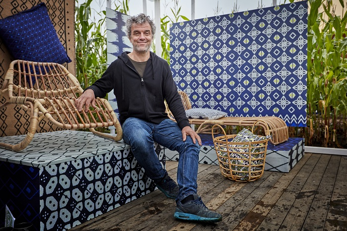 Piet Hein Eek with part of his collection for IKEA. image from: www.pietheineek.nl