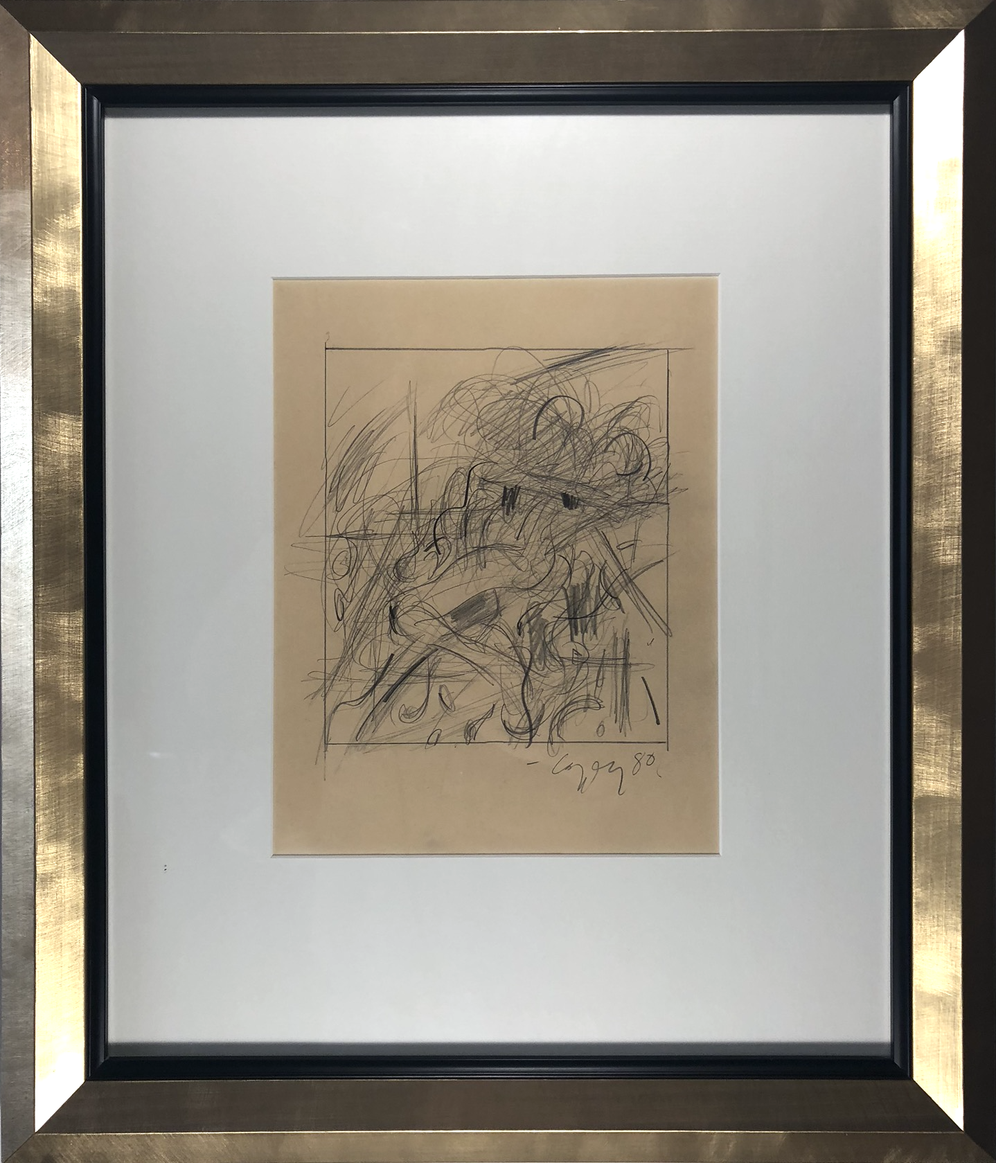 Graphite on paper c. 1980 Signed, dated lower right 9.5 x 7.75 in $3,100