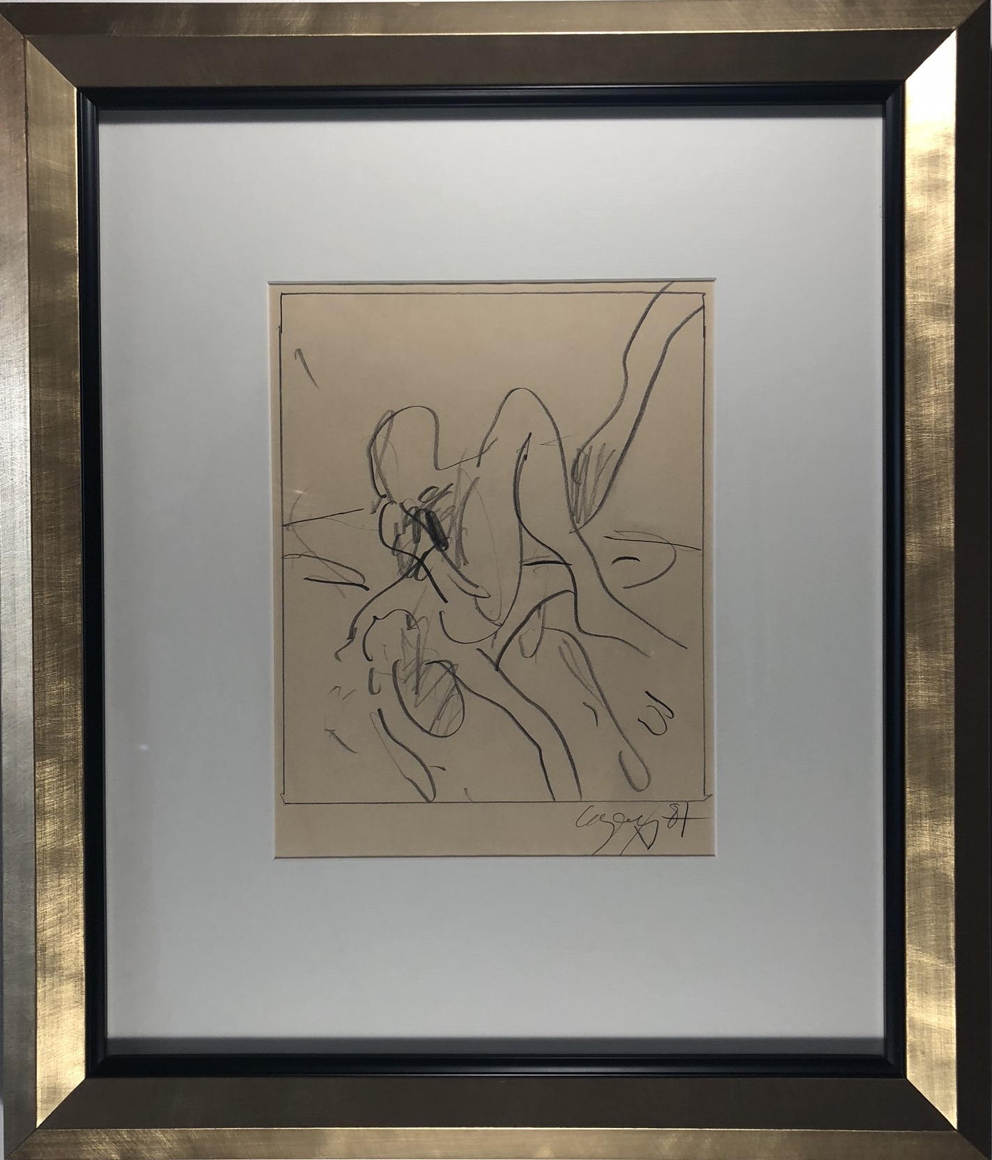 Graphite on paper c. 1987 Signed, dated lower right 9.5 x 7.75 in $2,900