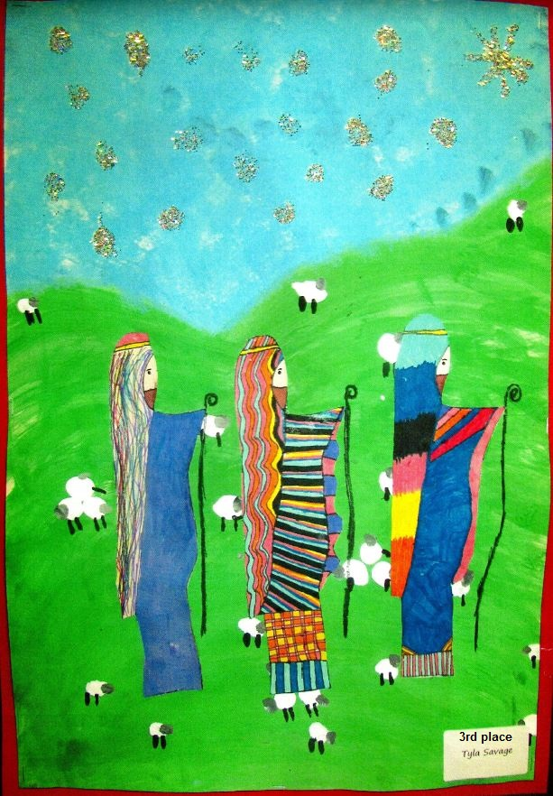 3rd place design by Tyla Savage of St Patricks Primary in Auchinleck.