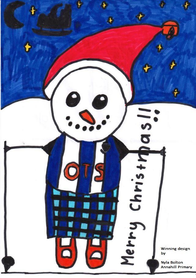 Winning design by Nyla Bolton of Annanhill Primary in Kilmarnock.