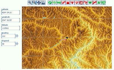 Flight Simulator map