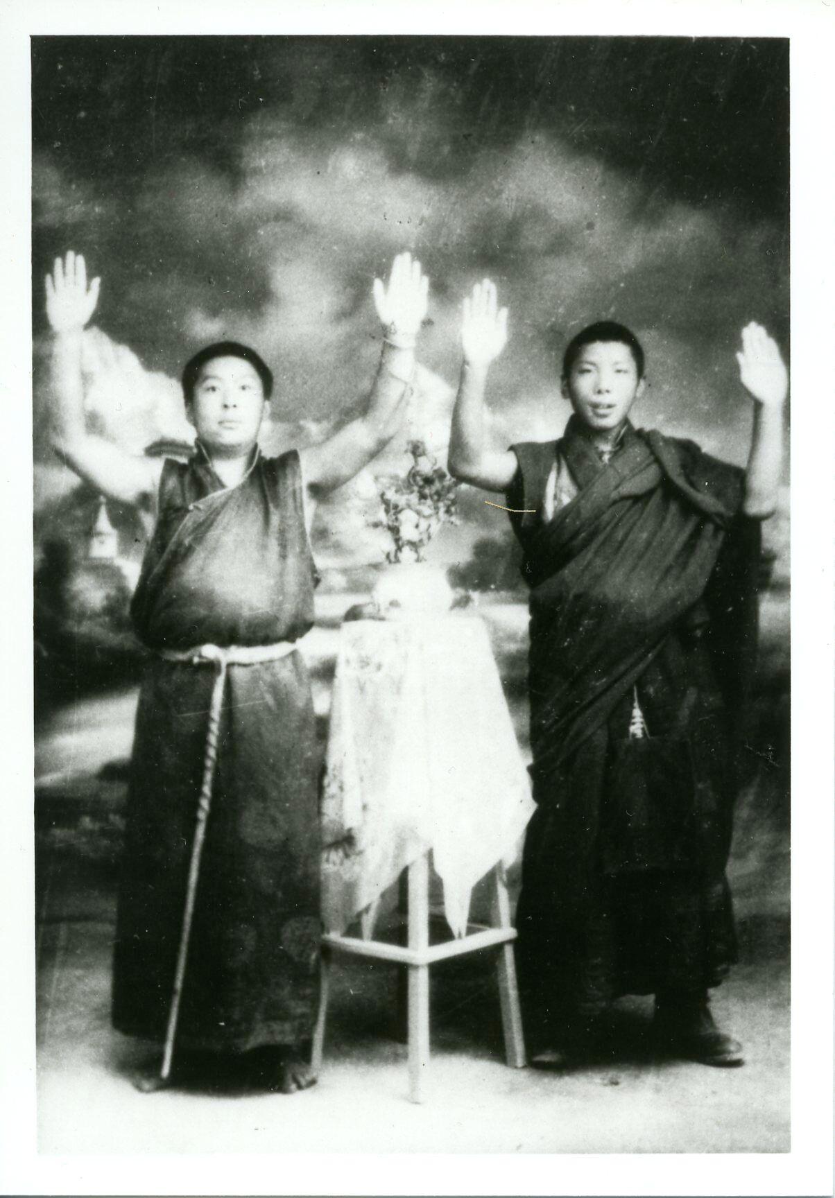 Chogyam Trungpa (R), Khenpo Gangshar, 1958