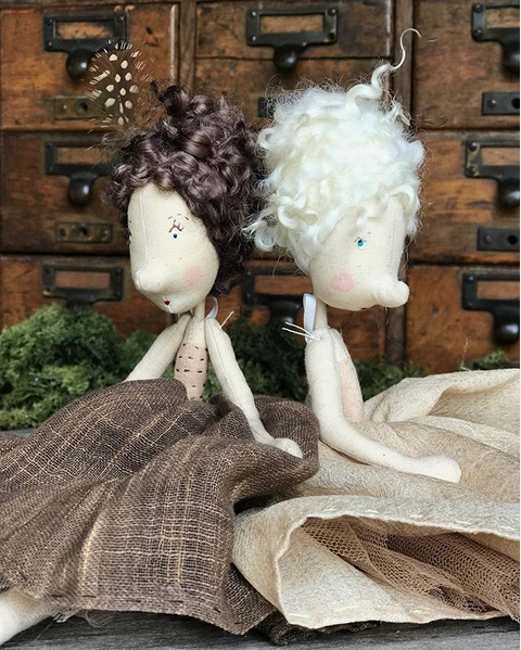 """""""Hattie and Mabel - Hattie is well organised and extremely efficient. She's […] also creative and does the most beautiful calligraphy. Mabel couldn't be more different. She's a bit clumsy and often trips over her rather large feet […] Despite their differences, Hattie and Mabel are inseparable."""""""