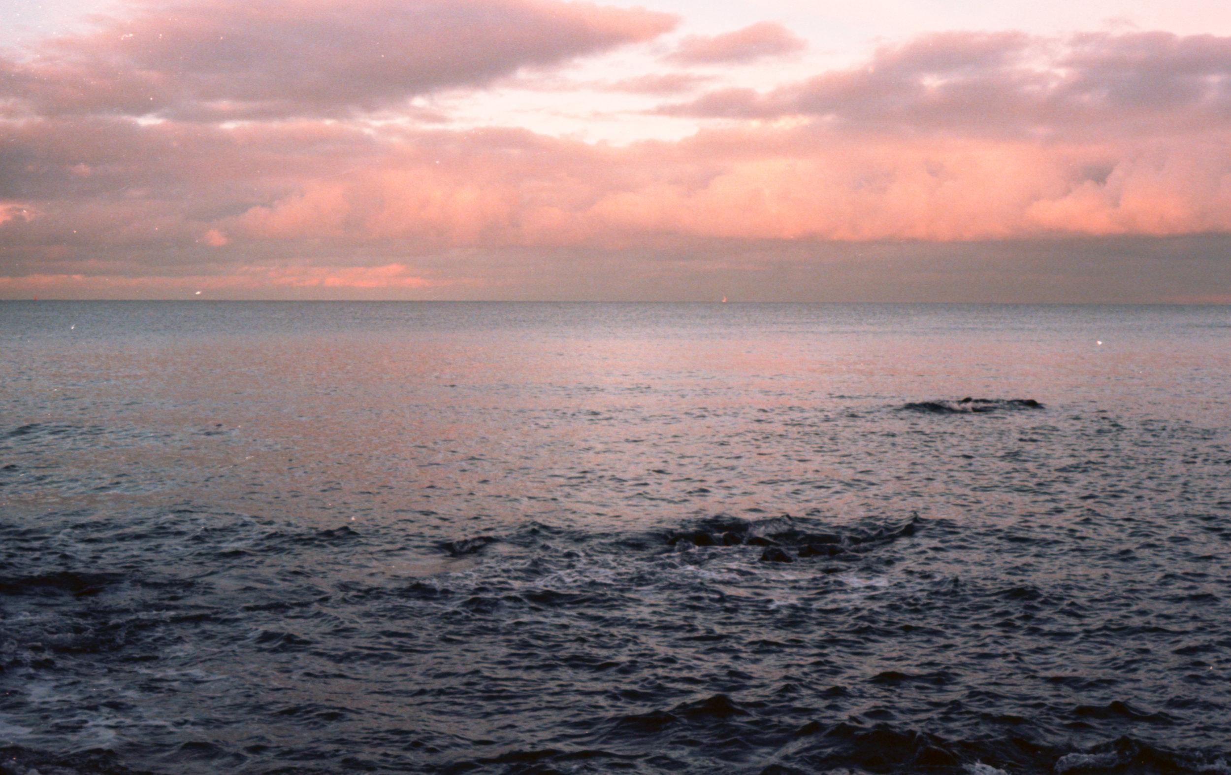 Winter seascape #2 on 35mm
