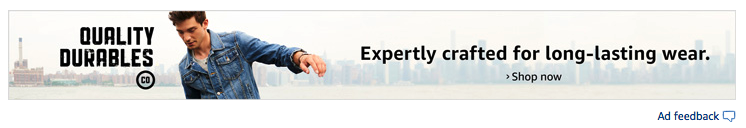 An Amazon ad that appears when searching for outerwear.