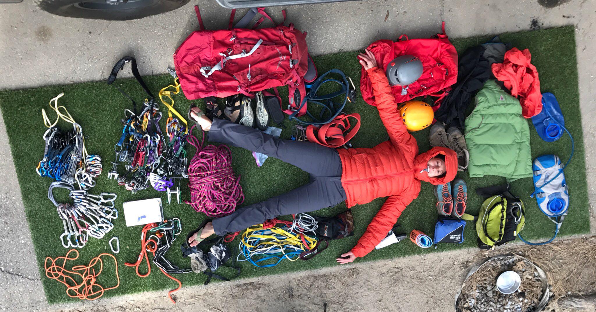 Mer and climbing gear.jpg