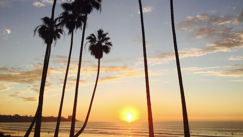 La Jolla Shores at sunset.
