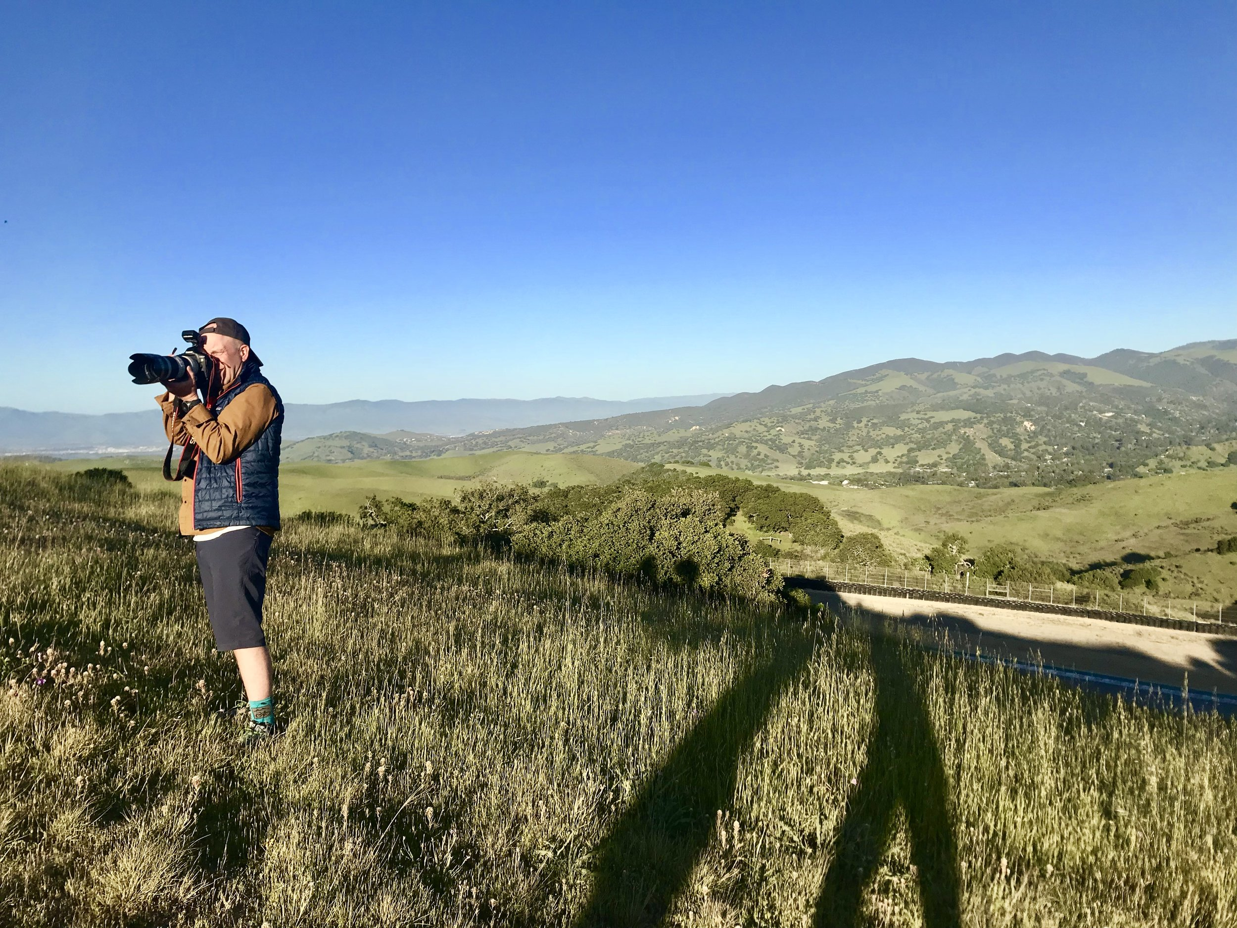 Mid photo shoot at the Sea Otter Classic in Monterey, California with photographer  Wil Matthews.