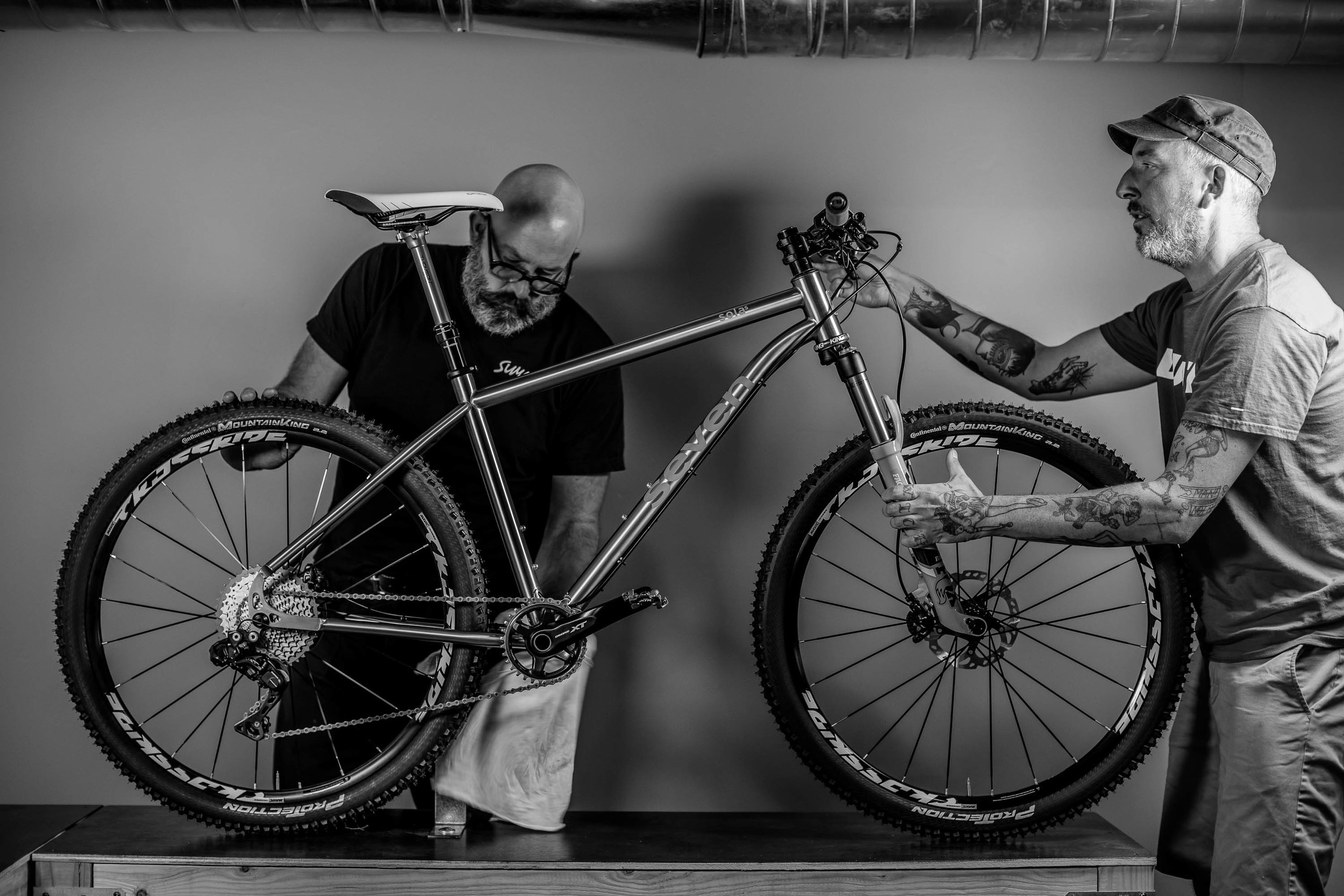 New clients Jeff Huckleberry and Craig Gaulzetti of  Summer Cycles  in Del Mar, California during a photo shoot.