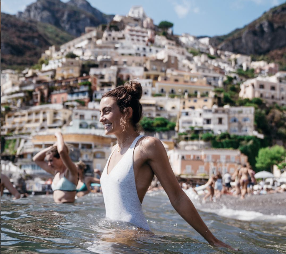 Shooting on location in Positano, Italy with lifestyle and adventure photographer  Kat Reynolds .