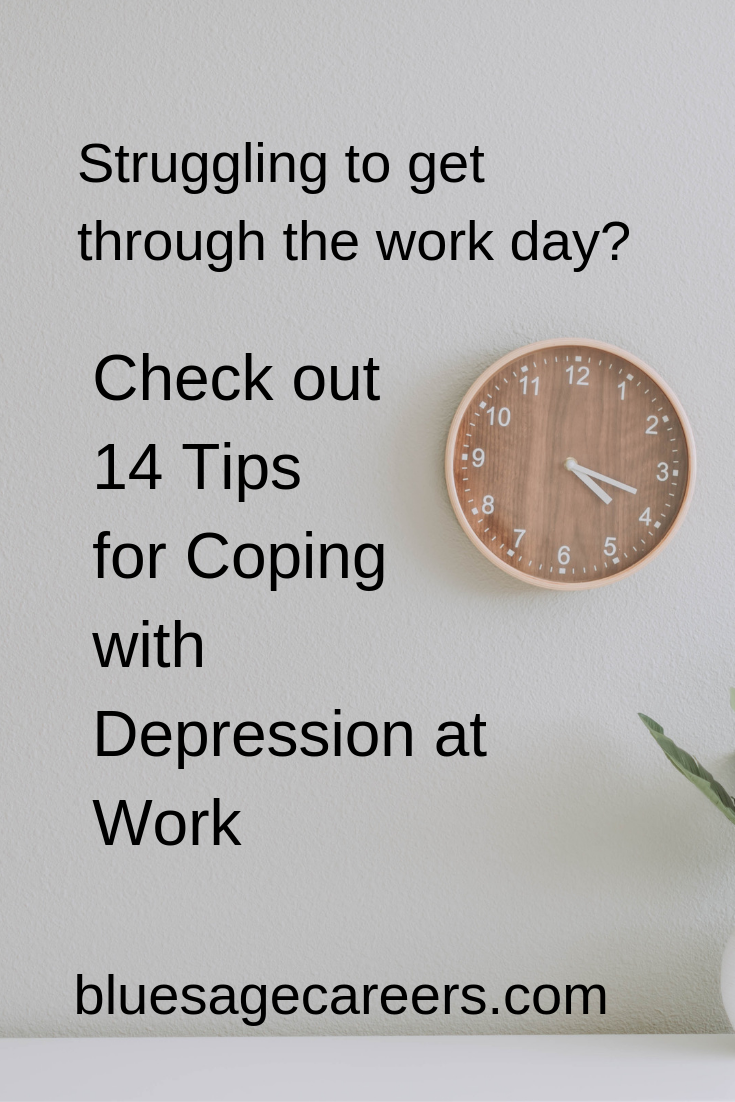 Finding it hard to make it through the workday? Check out 14 tips to cope with depression at work
