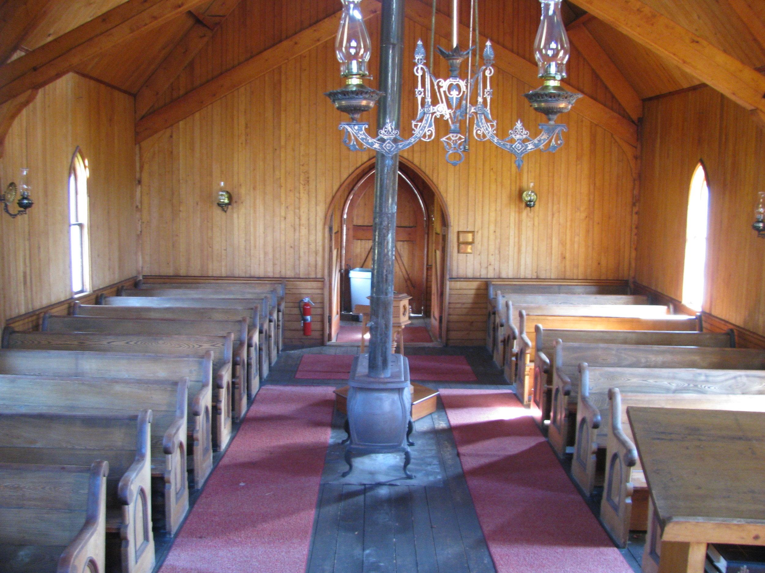 View toward rear of chapel.
