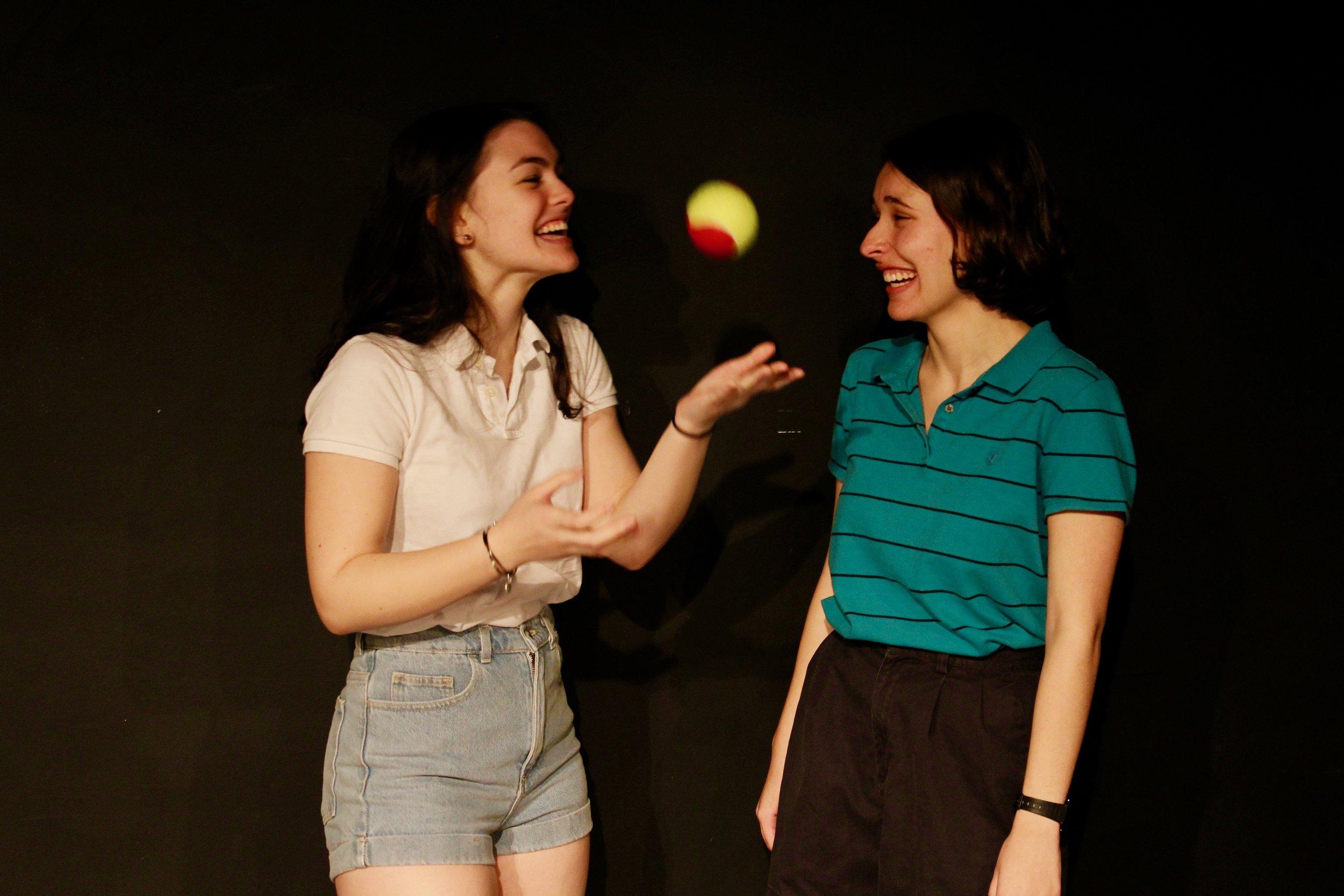 From left: Casey Rae Borella as Kiki, Katie Kunka as Loony
