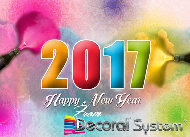 Happy New Year from Decoral System USA Team to Yours! #powdercoatingservices #sublimation #2017 #happynewyear