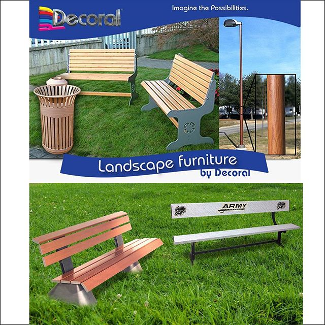 Decoral IR-3D® technologies are specifically designed to decorate landscape furniture by sublimating images directly into powder coated surfaces #decoralsystem #sublimation #powdercoating #landscape #furniture