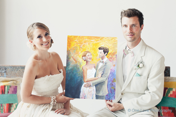 Wedding Painting by Arlissa Vaughn