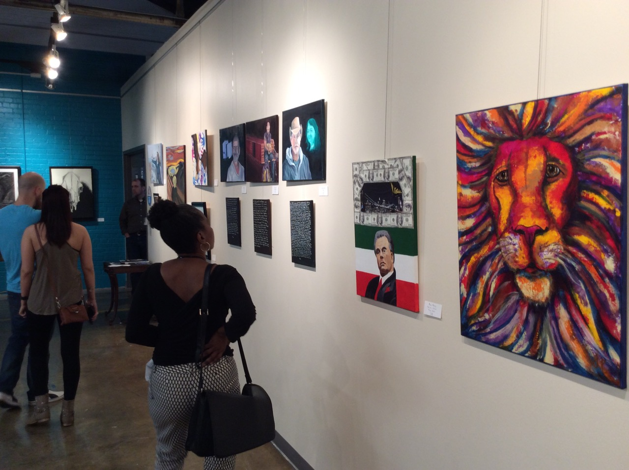 Guests peruse the Student Artworks at the 2016 Student Show at ClearWater