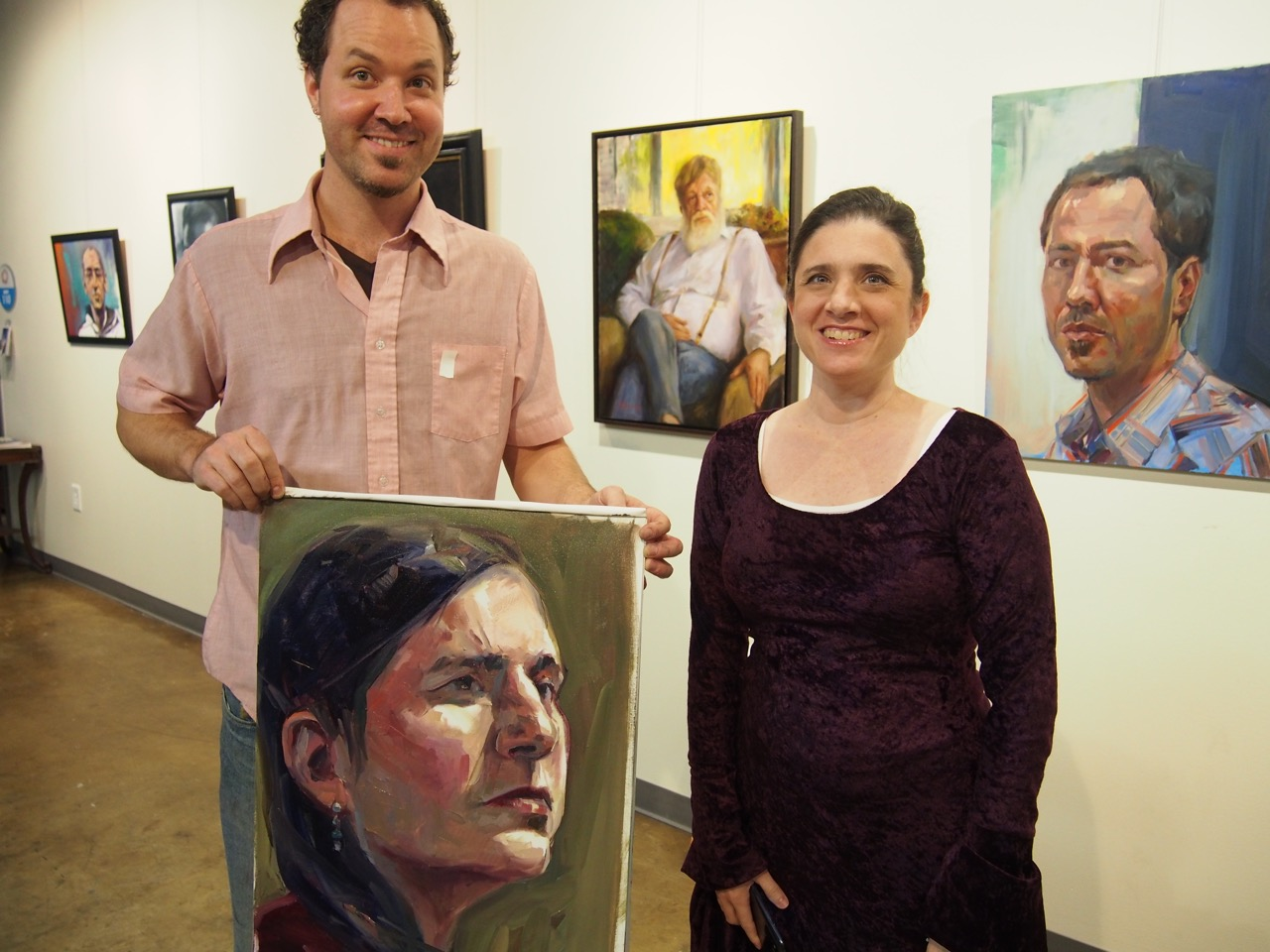 Featured Painter Isaac Payne with model Melissa Ritchie