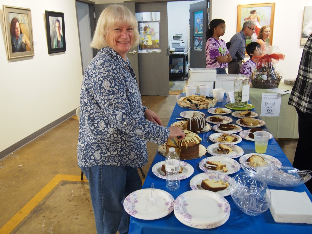 Patty Swift, Volunteer Extraordinaire, with Cake