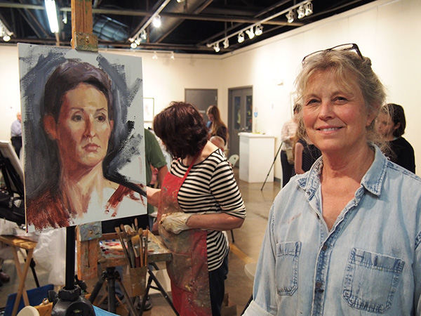 Robin Wellner, a Featured Painter at the 2017 Annual Portrait Paint-Off, also Guest-Teaches