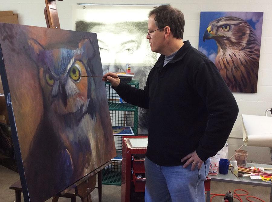 Walter Stanford, Painting; Studio 136-B