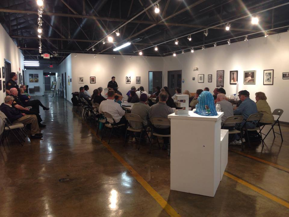 Meeting snapshot in ClearWater Gallery - taken from the Gibson Village Association FaceBook page (April, 2014)