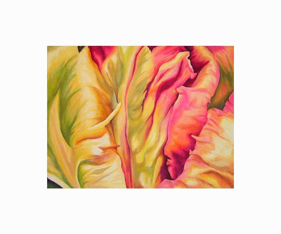 "Tulipscape , Oil on Canvas, 14""x18"", 2007"