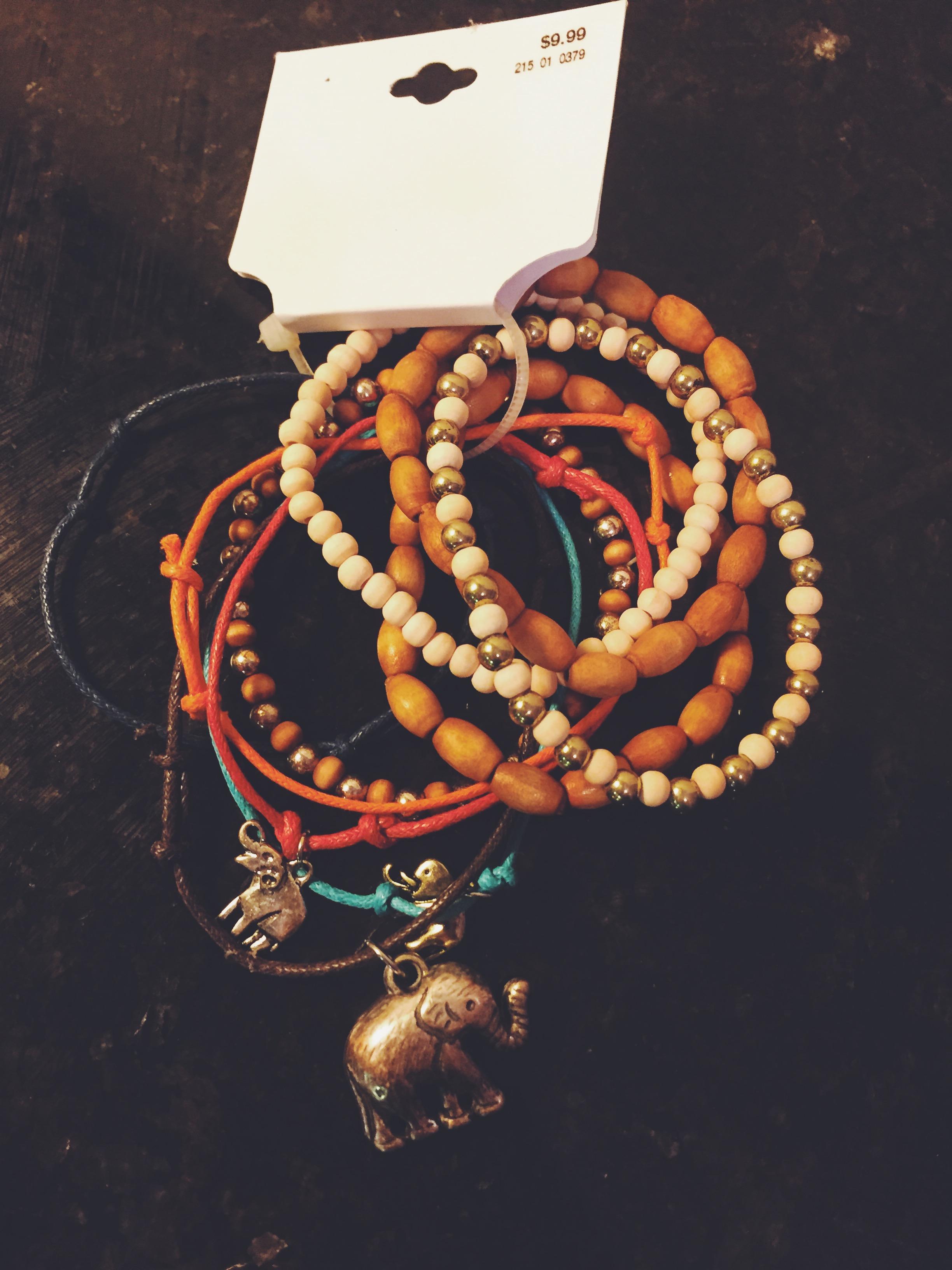 My bohemian ellie bracelet set. $9.99, Target