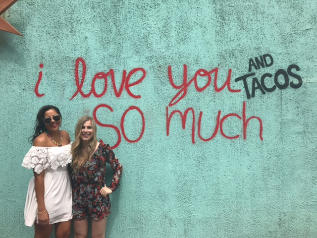 The only person who loves tacos more than me. And I love her more than tacos: LARN!