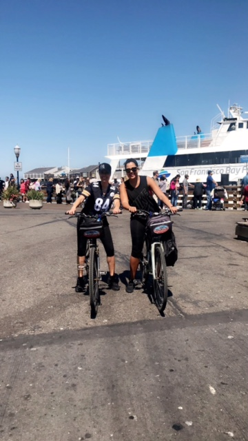Renting our bikes at the Pier!