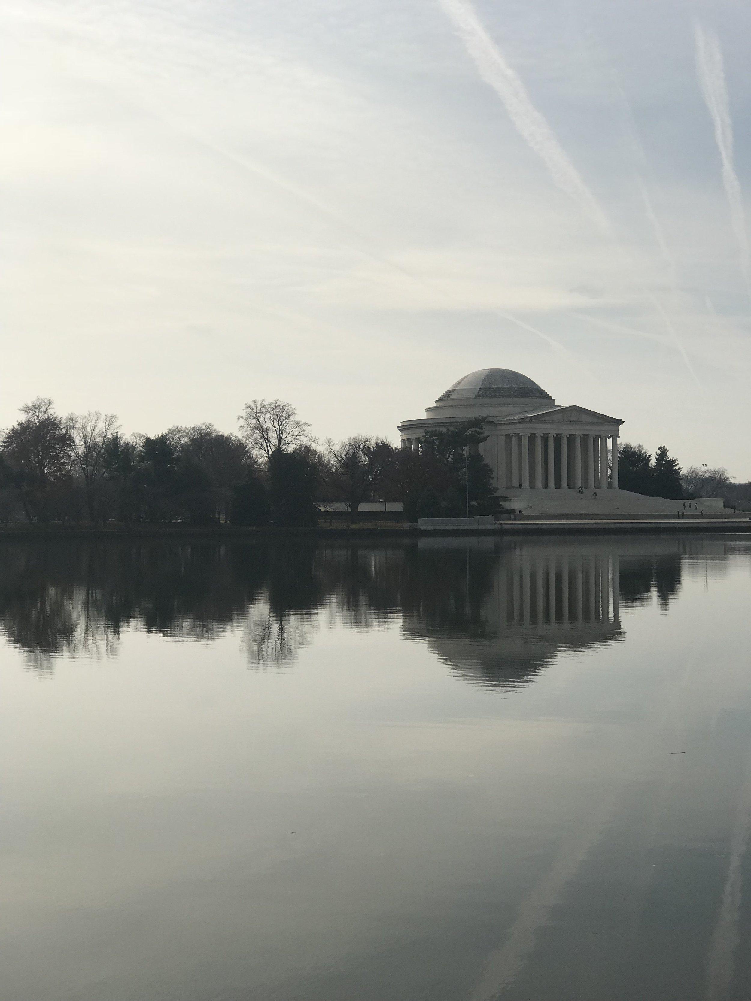 The Jefferson Memorial! So stunning!
