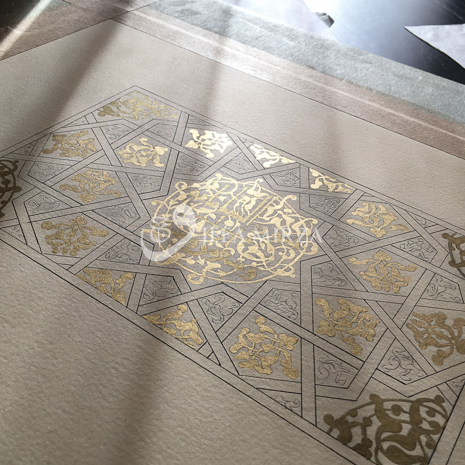 First layers of gold applied