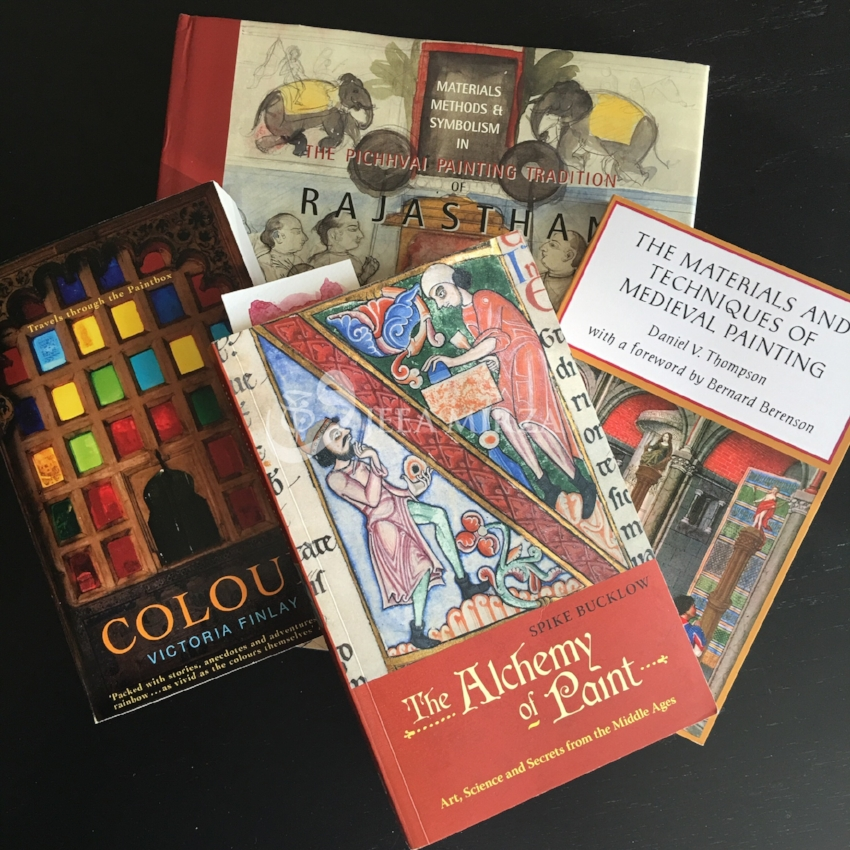 A selection of my favourite books on Indian miniature and colour