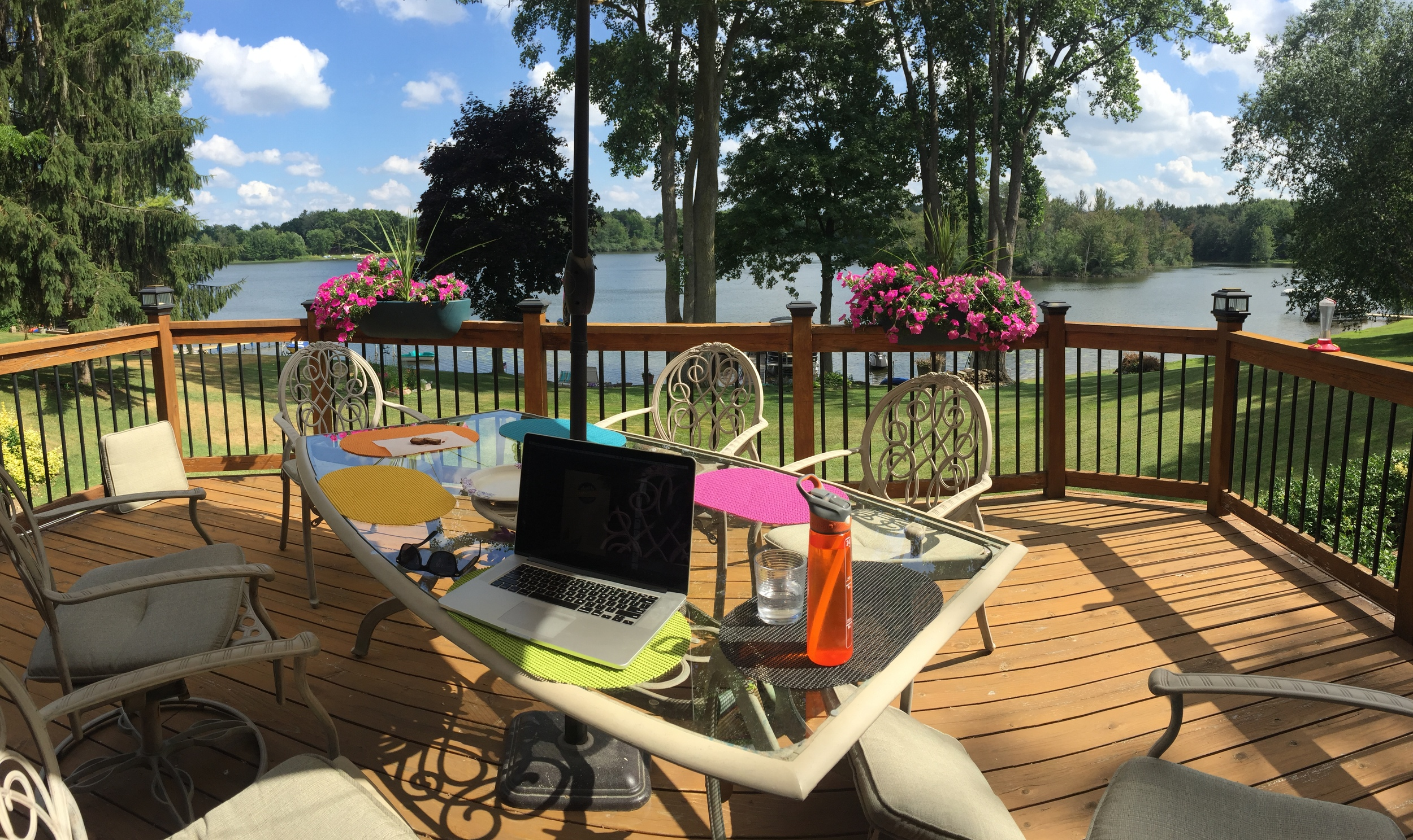 The Hatch Compound. Sending e-mails between wakeboard sessions.