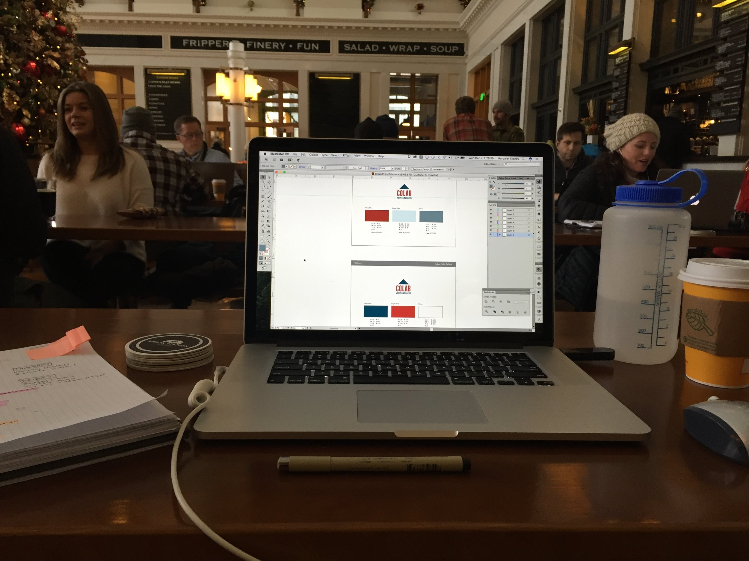 Getting some work done at Denver Union Station while waiting for I-70 to Vail to re-open.