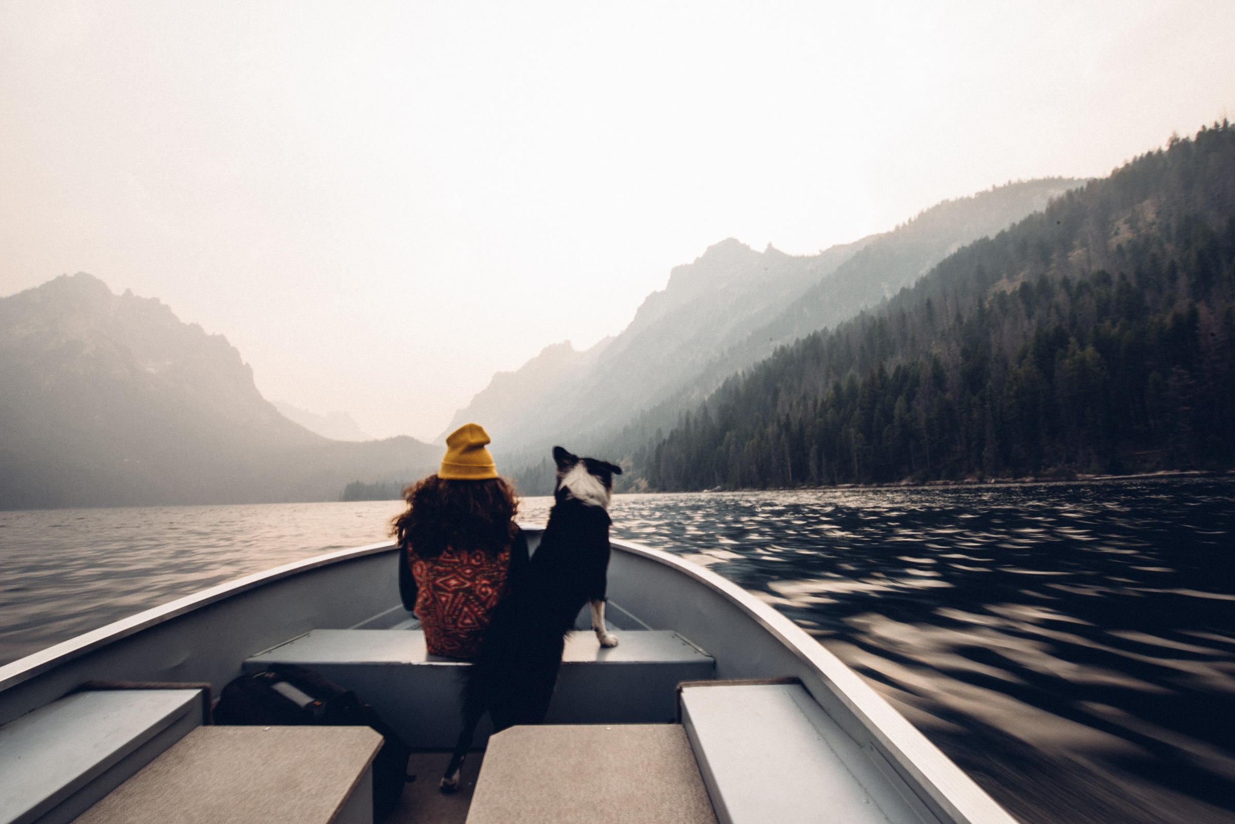 Rico and me cruising on Redfish Lake in Sawtooth National Recreation Area in Stanley, Idaho last September.