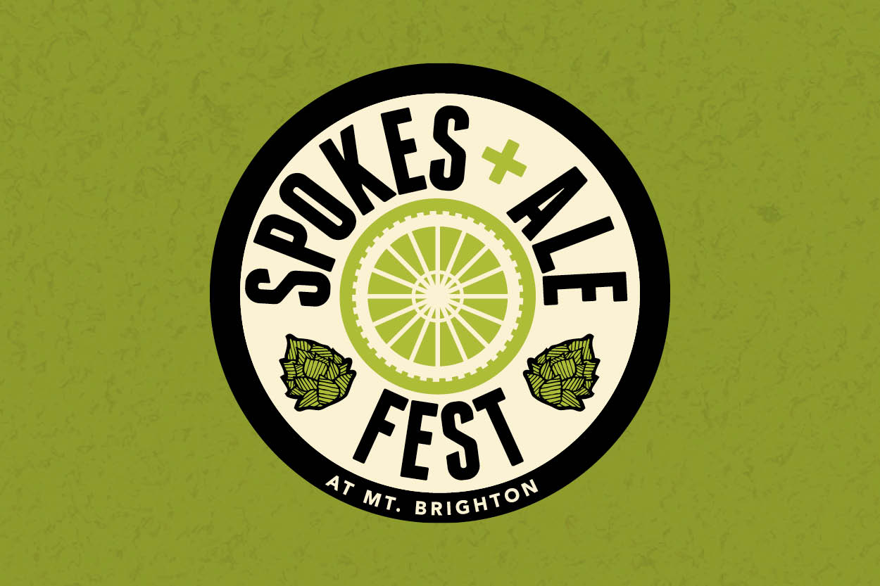 Client:  Mt. Brighton   Project:  Logo and Spokes and Ale mountain bike and beer summer festival