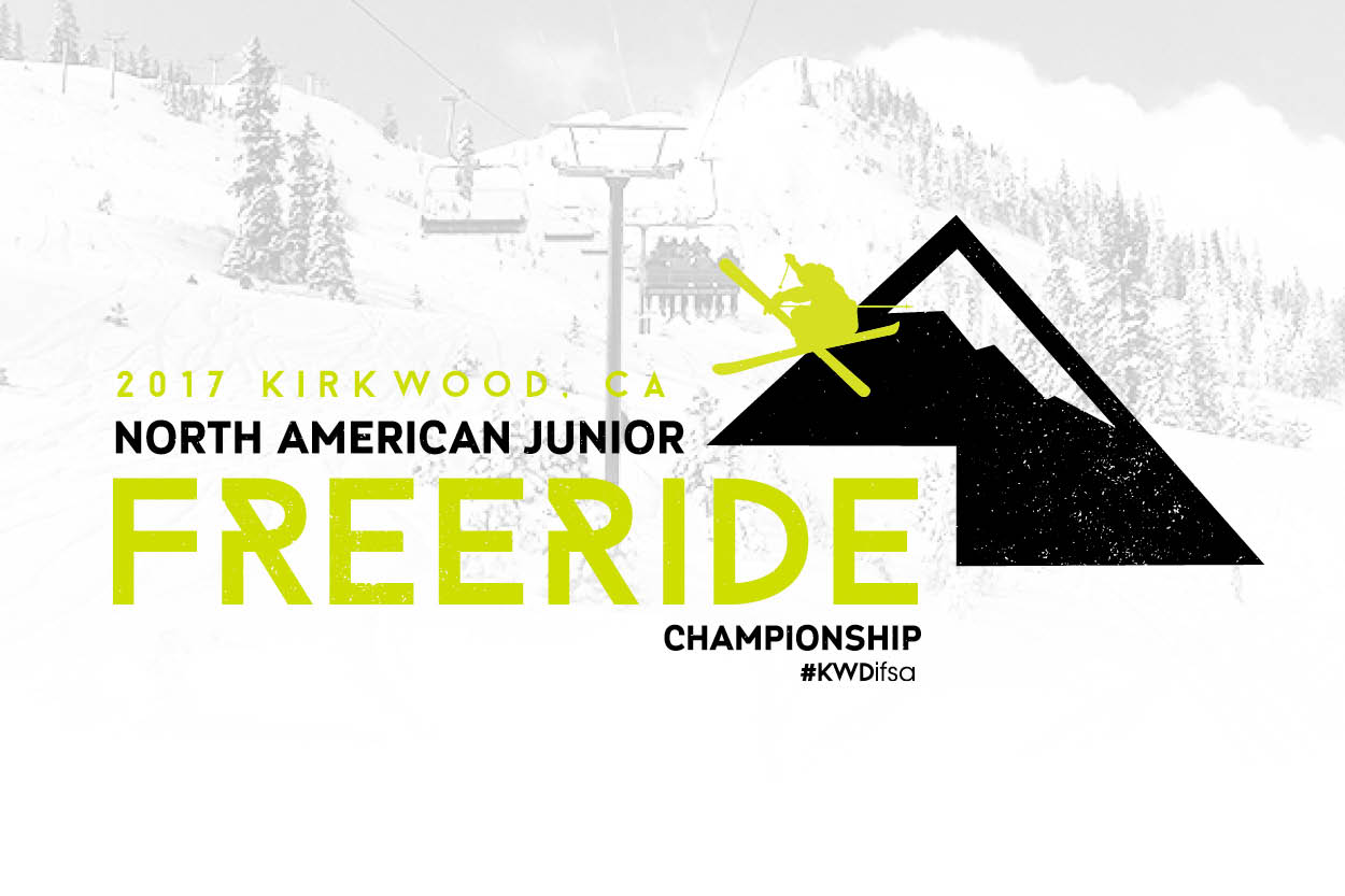 Client:  Kirkwood Mountain   Project:  T-Shirt Logo for North American Freeride Championship